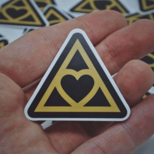 Heart Triangle Sticker