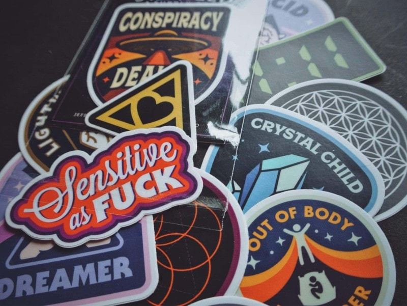 metaphysical stickers