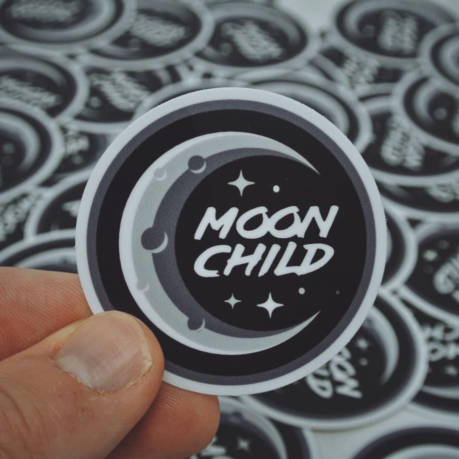 Moon Child Sticker