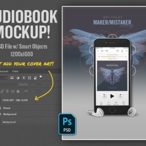 Audiobook Mockup Template