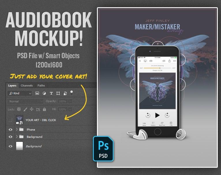 Audiobook Mockup Template